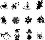 Christmas_silhouettes Stock de ilustración