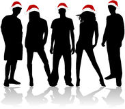 Christmas Silhouettes Stock Photography