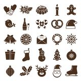 Christmas silhouettes icons Stock Image