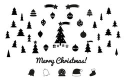 Christmas silhouettes - icons Royalty Free Stock Image
