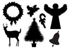 Christmas Silhouettes 2 Stock Illustration