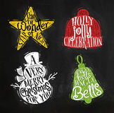Christmas silhouettes snowman Royalty Free Stock Images