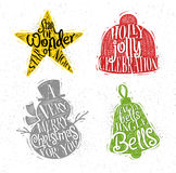 Christmas silhouettes star color Stock Photo