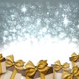 Christmas silver abstract background Stock Photo