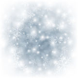 Christmas silver abstract background. Silver winter abstract background. Christmas background with snowflakes. Vector Royalty Free Stock Photos
