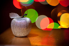 Christmas silver apple Royalty Free Stock Image