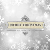 Christmas silver background. Christmas silver background with snow flakes Stock Photography