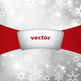 Christmas silver background. With snow flakes Stock Photos