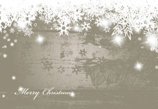 Christmas silver background. With snow flakes Royalty Free Stock Image