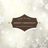 Christmas silver background. With snow flakes. Vector art Royalty Free Stock Image