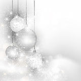 Christmas silver background Royalty Free Stock Image