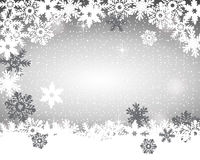 Christmas silver background Stock Image