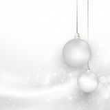 Christmas silver background with snowflake Stock Photography