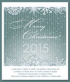 Christmas silver background with snowflakes. Royalty Free Stock Images