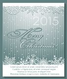 Christmas silver background with snowflakes. Stock Photo