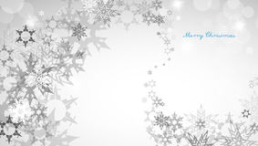 Christmas silver background with snowflakes Stock Photo