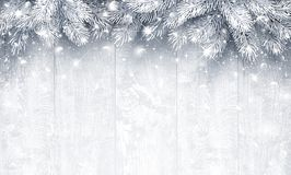 Christmas  Silver background Royalty Free Stock Images