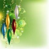 Christmas silver balls Stock Photo