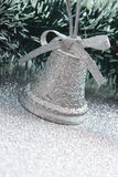 Christmas silver bell Stock Image