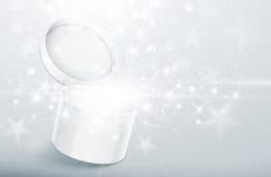 Christmas silver box Royalty Free Stock Image