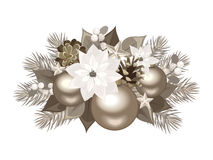 Christmas silver decoration. Royalty Free Stock Images
