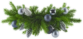 Christmas silver decoration element royalty free stock photo
