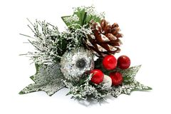 Christmas silver decorations Royalty Free Stock Images