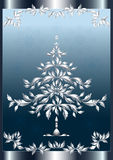 Christmas silver fir-tree in frame. Royalty Free Stock Images