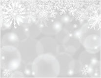 Christmas silver frame royalty free stock photos