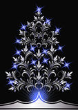 Christmas silver fur-tree Stock Images