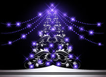 Christmas silver fur-tree Stock Image