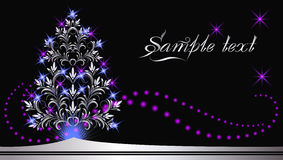 Christmas silver fur-tree Royalty Free Stock Images