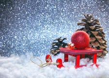 Christmas silver glitter background Stock Photo
