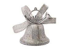 Christmas silver hand bell Royalty Free Stock Images