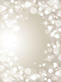 Christmas silver lights Stock Photography