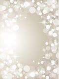 Christmas silver lights Stock Photography