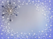 Christmas Silver Ornament Snow Royalty Free Stock Photos