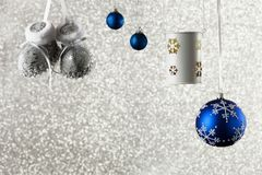 Christmas background with decorations on a shiny background Royalty Free Stock Photography