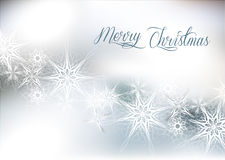 Christmas silver snow background Royalty Free Stock Photography