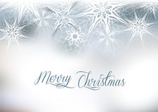 Christmas silver snow background Royalty Free Stock Photos