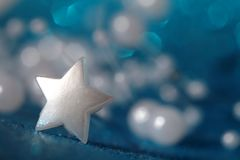 Christmas silver star Royalty Free Stock Photo
