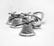 Christmas silvery bells Royalty Free Stock Image