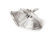 Christmas silvery bells Stock Images