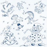 Christmas simple drawing Royalty Free Stock Photography