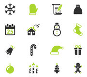 Christmas simply icons. Christmas simply symbol for web icons and user interface Royalty Free Stock Photo
