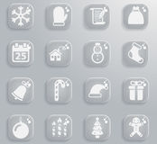 Christmas simply icons. Christmas simply symbol for web icons and user interface Royalty Free Stock Images