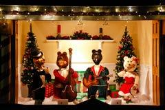 Christmas Singing Bear Display Royalty Free Stock Photos