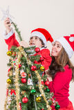 Christmas at a single mother home Royalty Free Stock Image