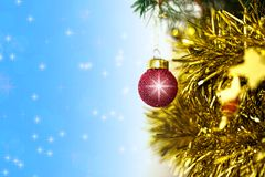 Christmas single red ball decoration royalty free stock image