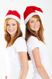 Christmas sisters Stock Photography